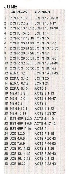 Bible june